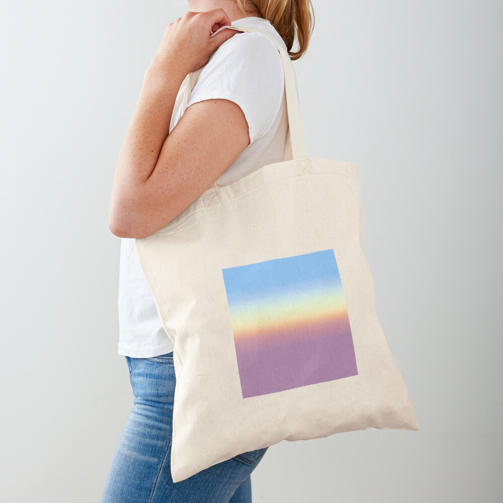 Rainbow pattern faded Tote Bag