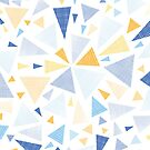 Abstract textured triangles bursts pattern by oksancia