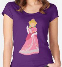 Minimalist Peach Women's Fitted Scoop T-Shirt