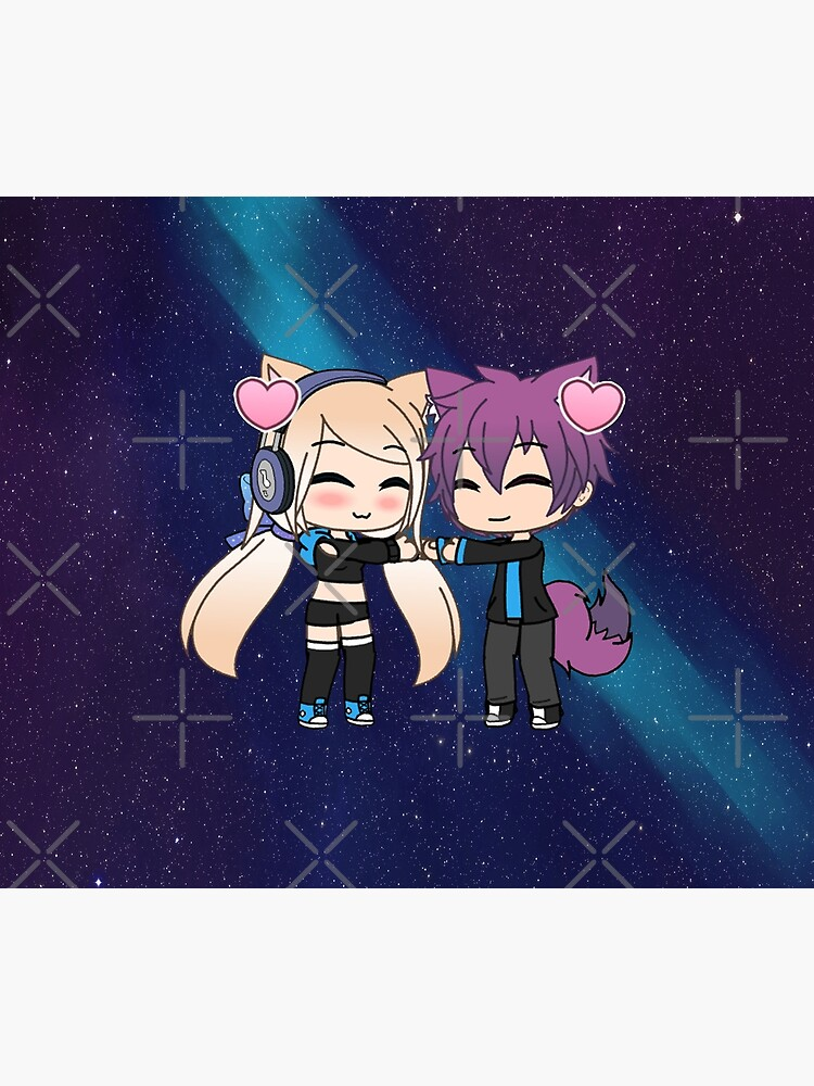 Cute Gacha Girl and Boy with Fox Tail by pignpix
