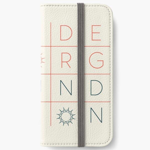 """Swedenborg Foundation """"Grid Design"""" 3 iPhone Wallet"""