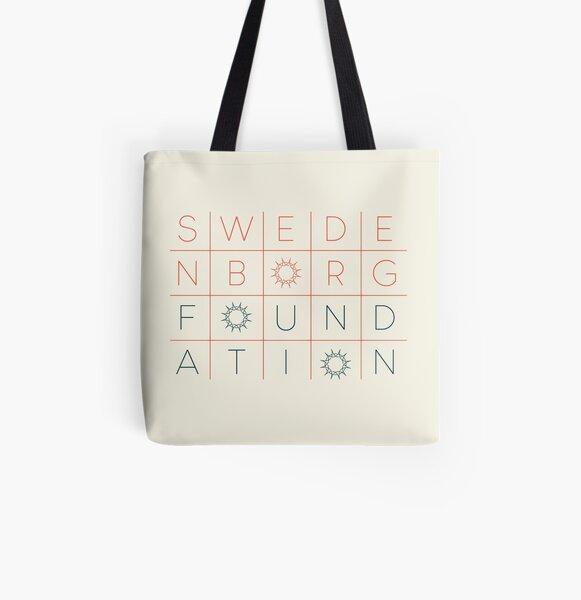 """Swedenborg Foundation """"Grid Design"""" 3 All Over Print Tote Bag"""