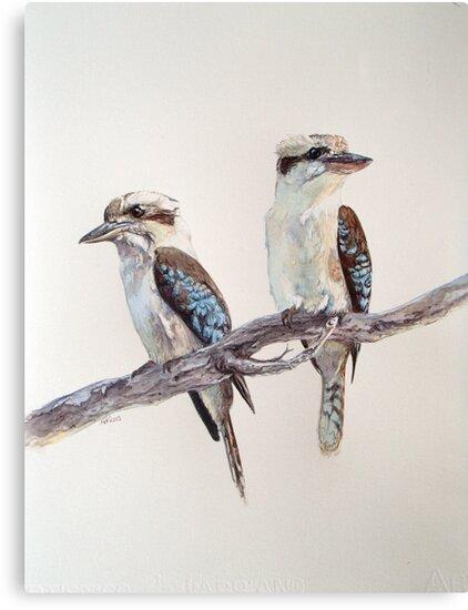 Kookaburras by melhillswildart