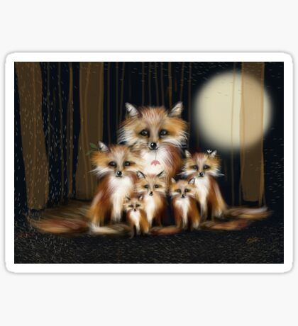 Fox Family Sticker