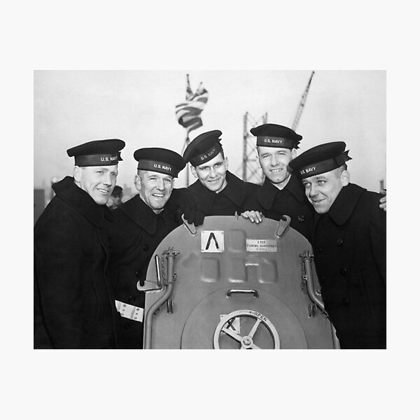 The Sullivan Brothers Aboard The USS Juneau - WW2 - Circa 1942 Photographic Print