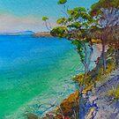 Spring Beach View by melhillswildart