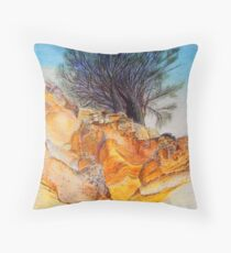 Painted Cliffs Throw Pillow