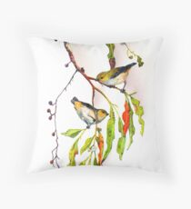 Forty Spotted Pardalotes Throw Pillow