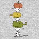 Pumpkin Skull Totem Pole by David Barneda