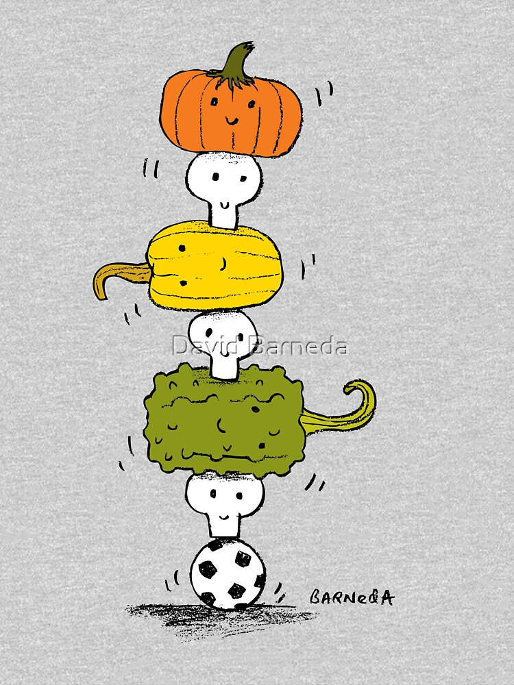 Pumpkin Skull Totem Pole by barneda