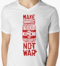 Make Kimchi Not War Funny Cool Nerd Geek T-Shirt Men's V-Neck T-Shirt