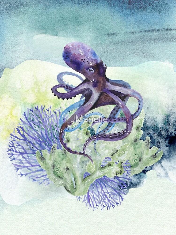 Watercolor Under Sea Collection: Octopus by JMarielle