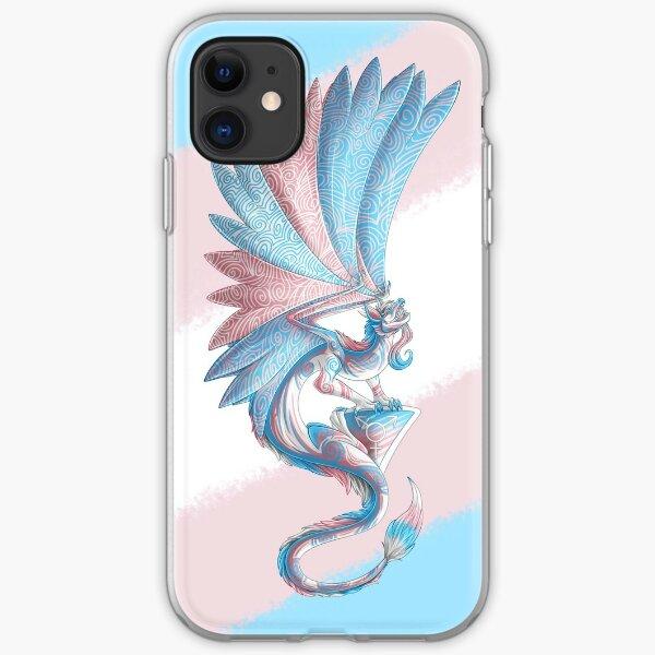 Transgender Pride Dragon iPhone Soft Case
