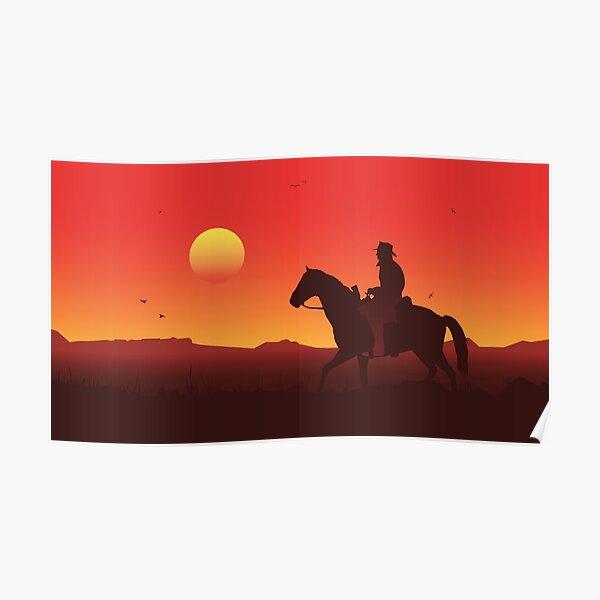 Le coucher du soleil Poster