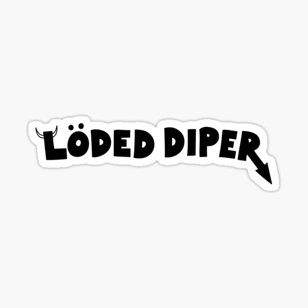 Loaded Diaper Stickers Redbubble