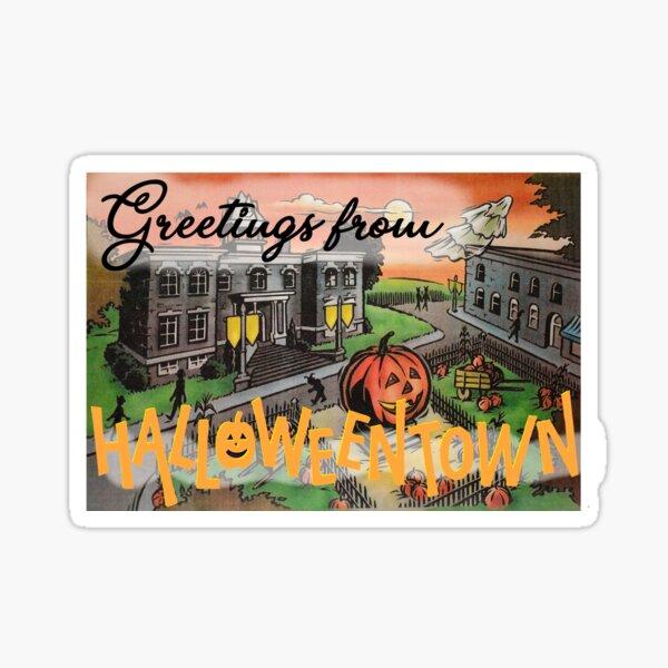Greetings from Halloweentown Sticker