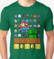 NES Mario 8-Bit Nintendo Characters Ugly Sweater Design Unisex T-Shirt