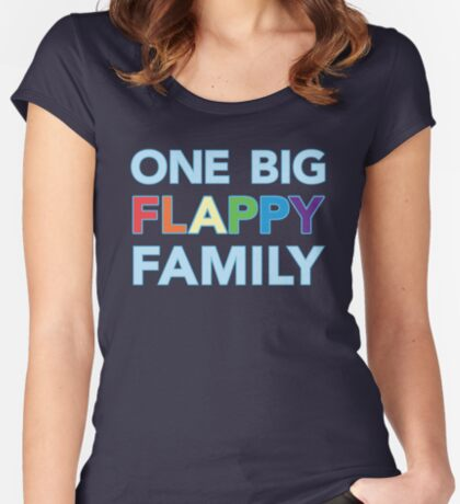 One big flappy Autistic family Women's Fitted Scoop T-Shirt
