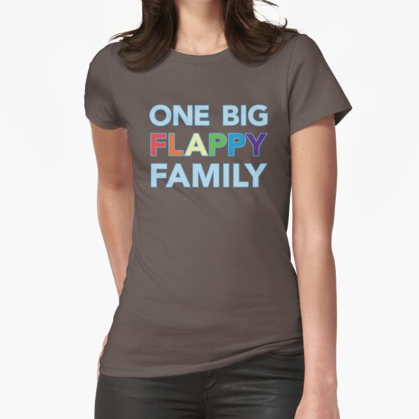 One big flappy Autistic family Fitted T-Shirt