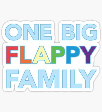 One big flappy Autistic family Sticker