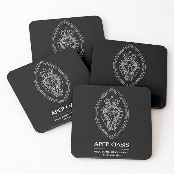 Apep Logo (for Black Shirts) Coasters (Set of 4)