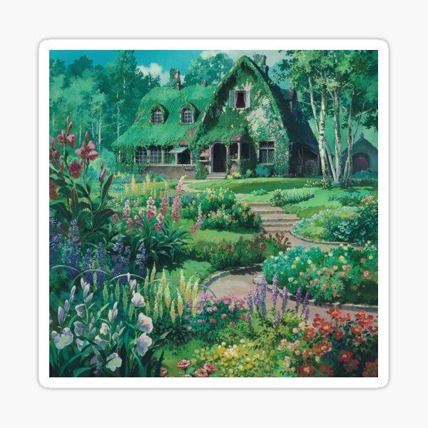 Casa de jardin Pegatina
