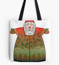 Santa Claus Stylized in red Tote Bag
