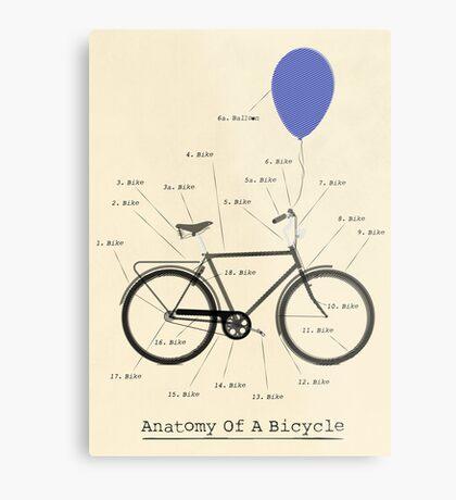 Anatomy Of A Bicycle Metal Print