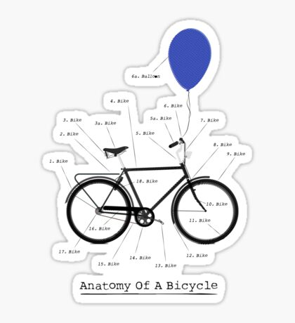 Anatomy Of A Bicycle Sticker