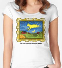 Goodnight Moon The Cow Jumping Over the Moon Women's Fitted Scoop T-Shirt