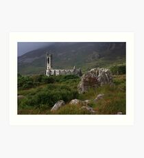 Dunlewey Church On Overcast Day Art Print