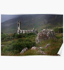 Dunlewey Church On Overcast Day Poster