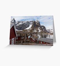 Red Fishing Huts Greeting Card