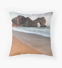 Durdle Door Breakers Throw Pillow