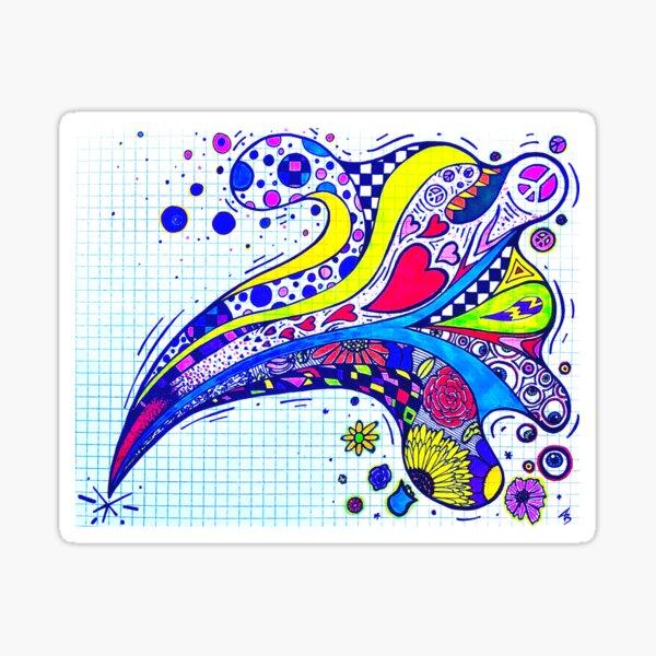 Graphic SPLASH Doodle Sticker