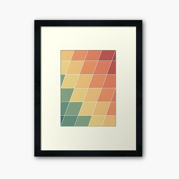 Warm Graphic Mod Framed Art Print