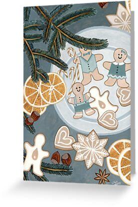 Gingerbread Man Cookies by Yuliya Art