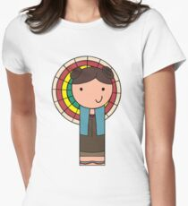 Kaylee Kokeshi Doll  Women's Fitted T-Shirt