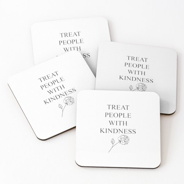 Treat People With Kindness Coasters (Set of 4)