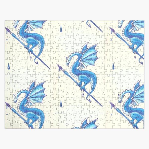 Blue Dragon Art Warrior Jigsaw Puzzle