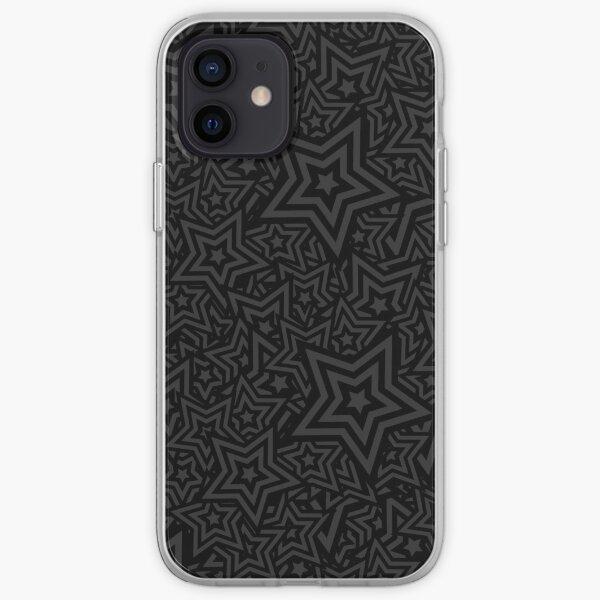 BLACK STAR PATTERN iPhone Soft Case