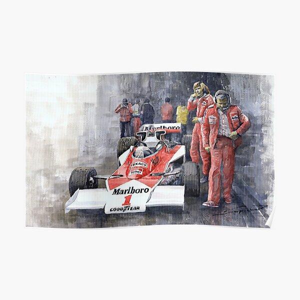 James Hunt Monaco GP 1977 McLaren M23 Poster