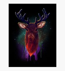 Galaxy Stag Photographic Print