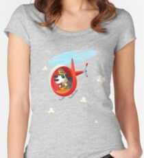 Helicopter dog Women's Fitted Scoop T-Shirt