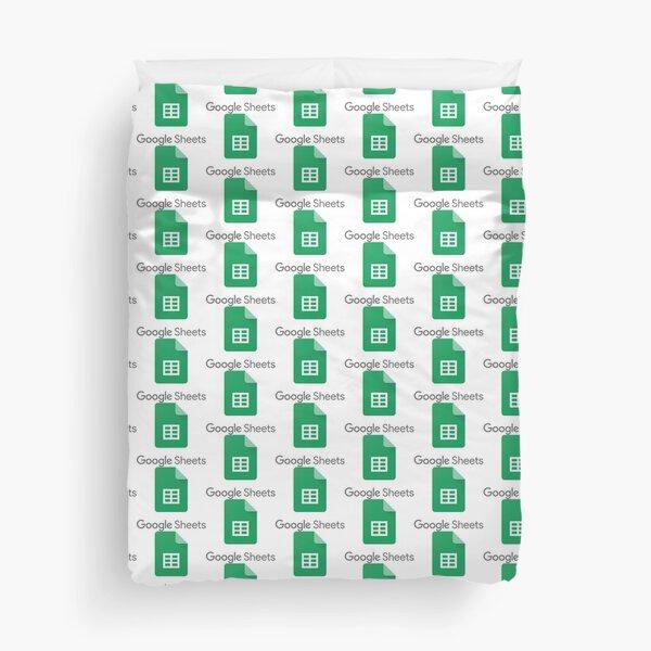 Google Sheets Duvet Cover