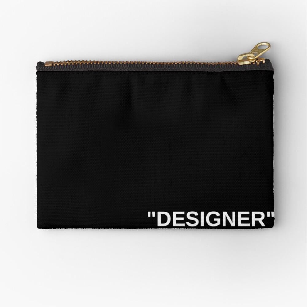 """Off White Style Label - """"Designer"""" - Black Zipper Pouch"""