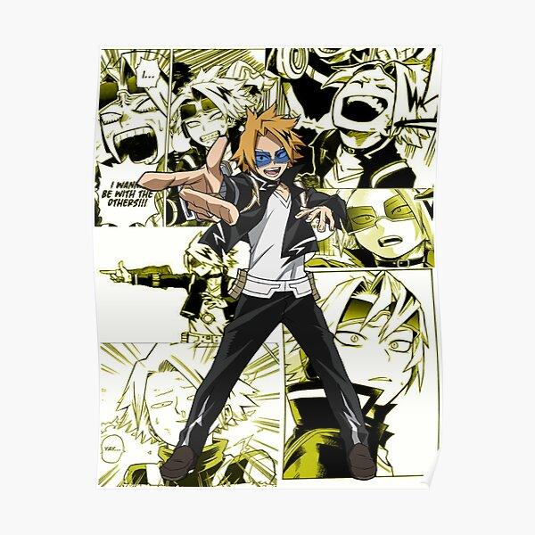 Collage de Denki Kaminari Manga Póster