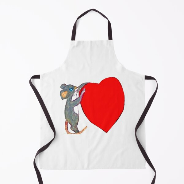 LITTLE VALENTINE MOUSE WITH A BIG HEART  Apron