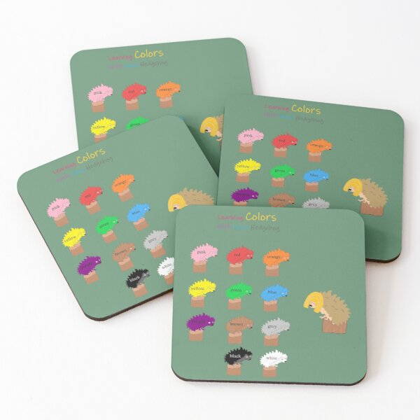 Learning Colors With Nana Hedgehog Coasters (Set of 4)