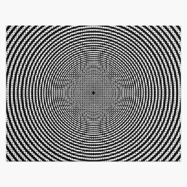 #Illustration, #pattern, #decoration, #design, abstract, black and white, monochrome, circle, geometric shape Jigsaw Puzzle